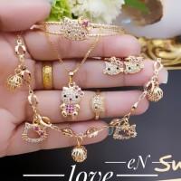 Xuping set anak perhiasan lapis emas 24k 1825