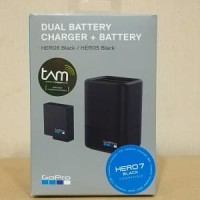 Gopro Dual Charger + 1 Battery hero 5 black
