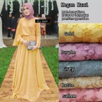 Dress/baju pesta/Brokat import Megan maxi