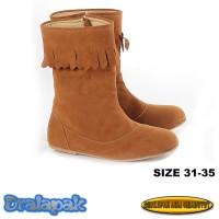 Sepatu Boots Anak Cantik Suede Fashion Korea Infikid KID904