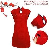 baju imlek/ kaos imlek/ DD03 Dress Imlek Xincia | Baju Imlek | Brukat