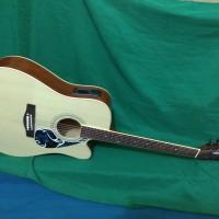 Gitar akustik elektrik wew