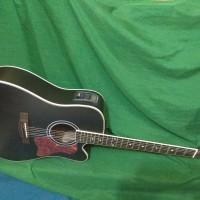 Gitar akustik elektrik jumbo tuner