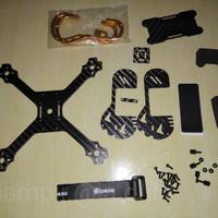 PART Eachine Tyro79 140mm 3 Inch FPV Racing Bingkai Kit KARBON