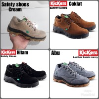 KICKERS SAFETY SHOES LOW BOOTS KULIT ASLI UJUNG BESI SOL TRACKING