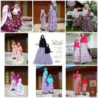 RESTOK Restock gamis couple new zarra dress busana muslim ibu dan ana
