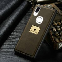 Vivo V9 Case Leather Caseme Bumper Soft Back Cover