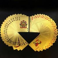 Kartu Remi Artistik Unik Poker Gold Foil - Golden Playing Card Set