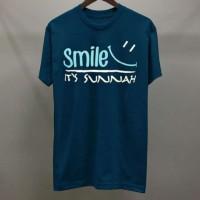 Kaos / Distro / Kaos Unisex / Kaos Muslim (Smile Is Sunnah )