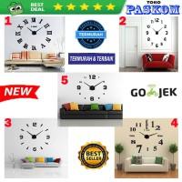 Jam Dinding Besar Raksasa Giant Wall Clock 80-130cm