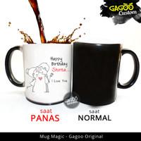 Kado ultah , Kado Unik | Mug Bunglon Magic - Birthday | Custom Text