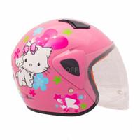 HELM KYT HELM RETRO IMPORT WTO Helm Anak Kids Kop Charmmy Pink
