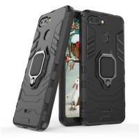 Huawei Y6 Prime 2018 - Honor 7a Black Panther Stand Ring Armor Case
