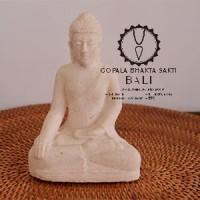 Hiasan Patung Buddha White Stone Gopala