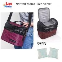 VELVET - Natural Moms Red Velvet cooler bag seperti gabag