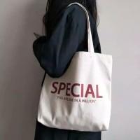 tas shoulder bag tas totebag bahan kanvas tebal