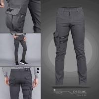 Cargo Ninja Pants Onstreet/Unik/Local Brand/Murah/Dark grey/Slimfit