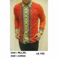 CELANA PREMIUM CELANA PRIA Baju Kemeja Batik Slim Fit CB153 fashion