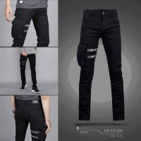 CARGO NINJA PANTS ONSTREET (BLACK) / CELANA CARGO / PANTS /CHINO PANTS