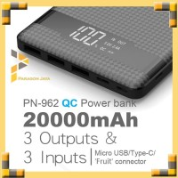 PINENG Powerbank PN-962 20000mAh 3 Output Quick Charge 3.0 - Hitam