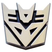 Emblem Timbul 3D Transformers - DECEPTION onderdil top