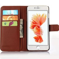 iPhone 7+ / 7 Plus Leather Wallet Case Cover