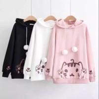DaveFashion - Sweater Hodie Pom Pom Cat