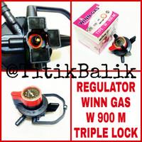 Regulator Kompor Gas Winn Gas W 900 M Triple Lock Tiga Pengunci W900M
