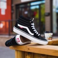 Sepatu Pria & Wanita Vans Sk8-Hi Pro Black White Original 100% BNIB!