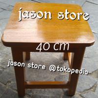 Kursi kayu 40 cm/Kursi kayu pendek 40 cm/Bangku kayu 40 cm