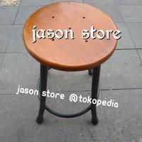 Kursi kaki besi 50cm (model lurus)/Kursi kayu kaki besi 50 cm/Bangku