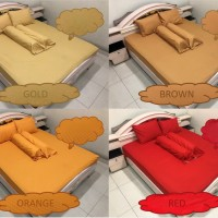Bed Cover SET 160x200 Polos Emboss No.2 Queen Size