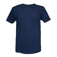 Kaos Polos O-Neck Lengan Pendek Cotton-Solid color - Putih, L trendy