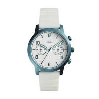 Fossil Ladies White Rubber Watch. Jam Branded Original