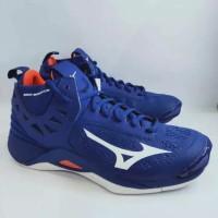 Sepatu Volley Mizuno Wave Momentum Mid Pantone Reflex Blue Original