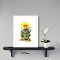 Hiasan Dinding Poster Cactus - Dekorasi Rumah Mini Cactus