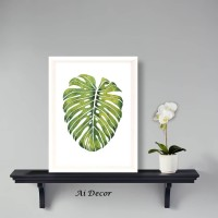 Poster Daun Tropis Monstera - Dekorasi Hiasan Ruang Tamu