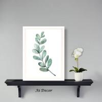 Dekorasi Tropical Poster Daun - Home Decor