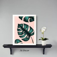 Hiasan Tropical Leaves Monstera - Wall Decor Monstera