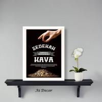 Inspirational Poster - Sedekah Tak Perlu Menunggu Kaya - Dekorasi
