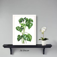 Monstera Poster Tropis - Home Decor Tropical Leaves