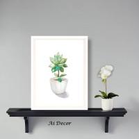 Mini Cactus Poster - Dekorasi