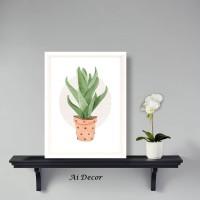 Hiasan Rumah Poster Cactus - Dekorasi Ruang Keluarga