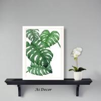 Tropical Leaves Poster Monstera - Dekorasi Rumah Monstera
