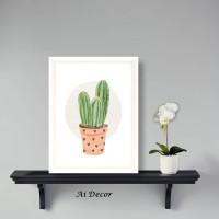 Dekorasi Rumah Poster Cactus - Hiasan Rumah