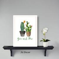 Poster You and Me Cactus - Home Decor Pigura
