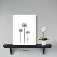 Hiasan Dinding Plants Poster Flower - Home Decor