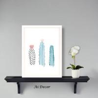 Dekorasi Poster 3 Cactus - Cute Poster