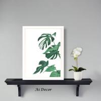 Dekorasi Rumah Shabby Wall Decor Monstera - Tropical Poster