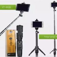 YUNTENG YT-9928 ORIGINAL Tongsis Bluetooth Monopod Handle Hp Kamera
